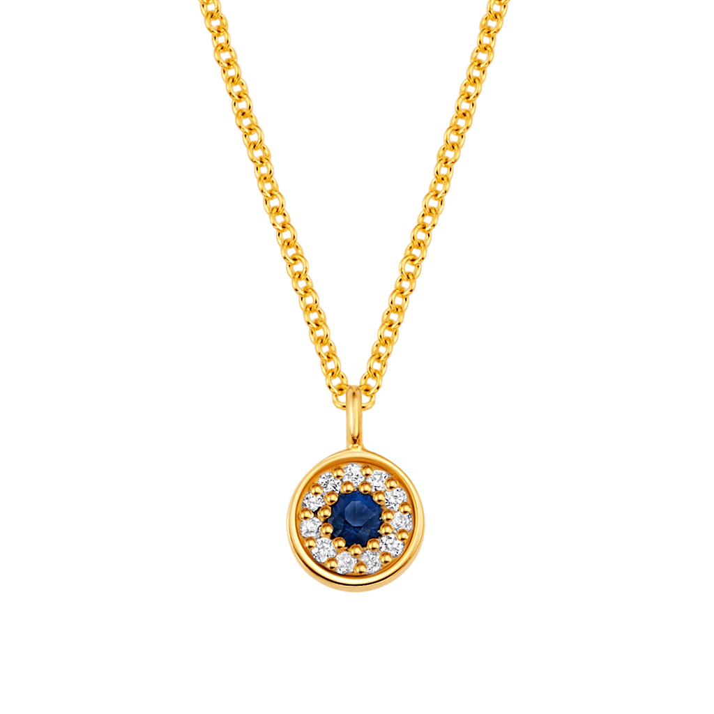 Dainty Round Evil Eye Necklace