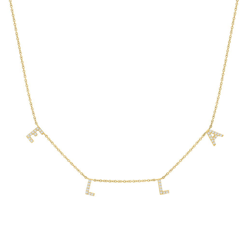 Diamond Spaced Letter Necklace