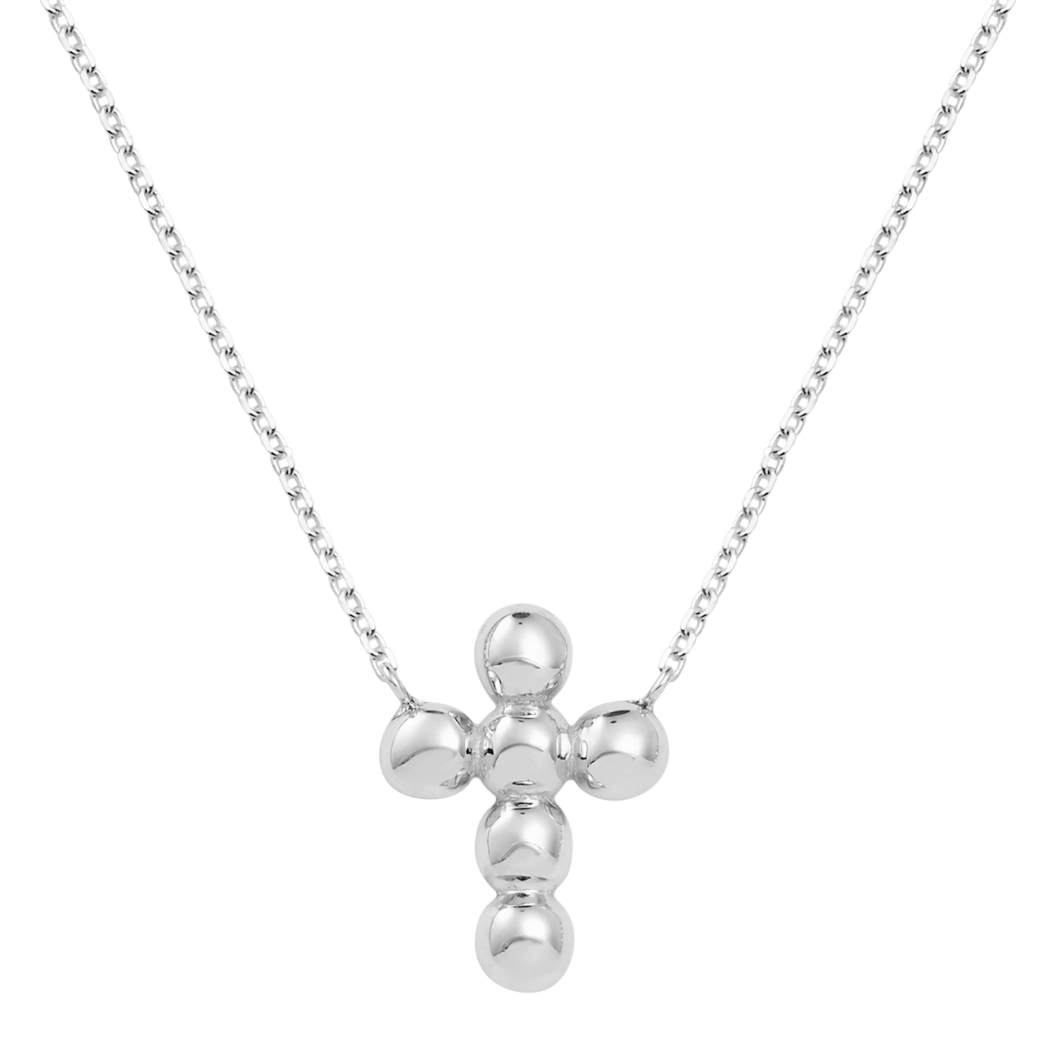 Bubble Cross Necklace