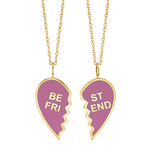 Enamel Best Friend Necklaces (Set of 2)