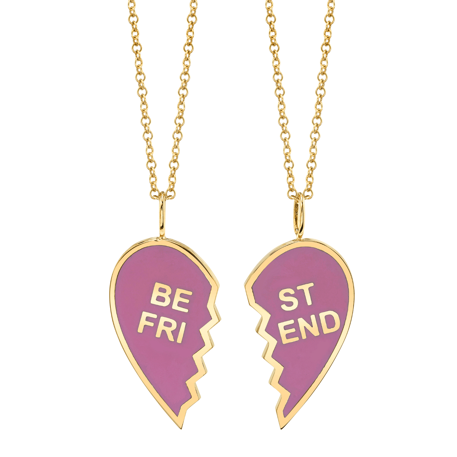 Kids Enamel Best Friend Necklaces (Set of 2)