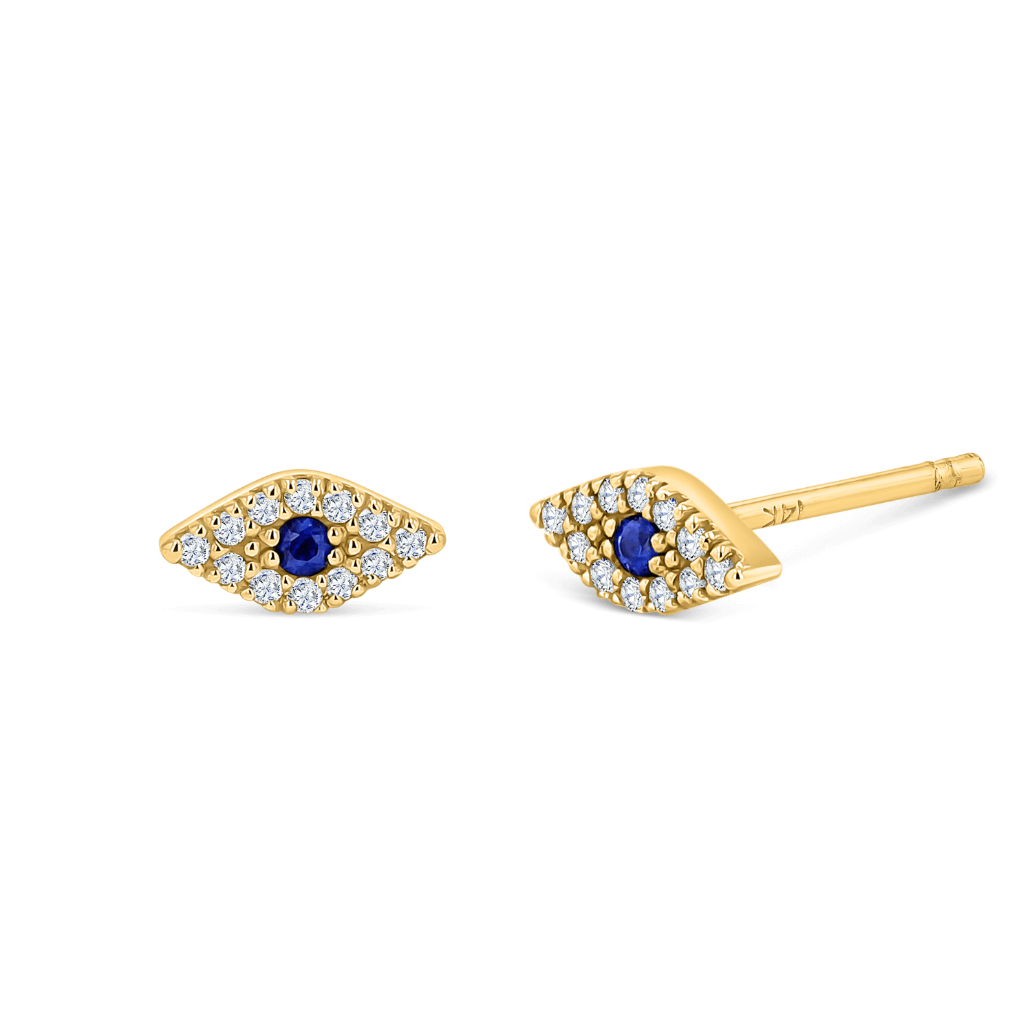 Pave Diamond Evil Eye Earrings