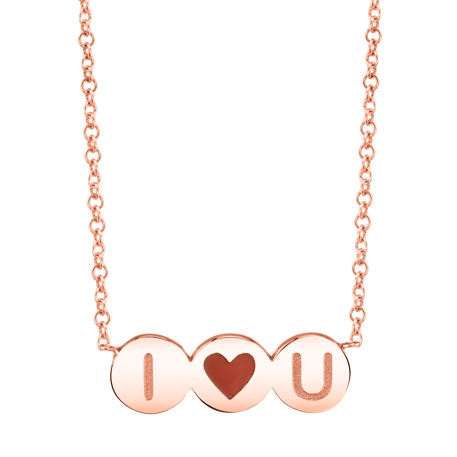 Enamel Heart Initial Necklace