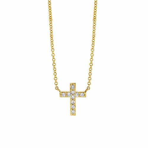 Grand Pave Cross Necklace
