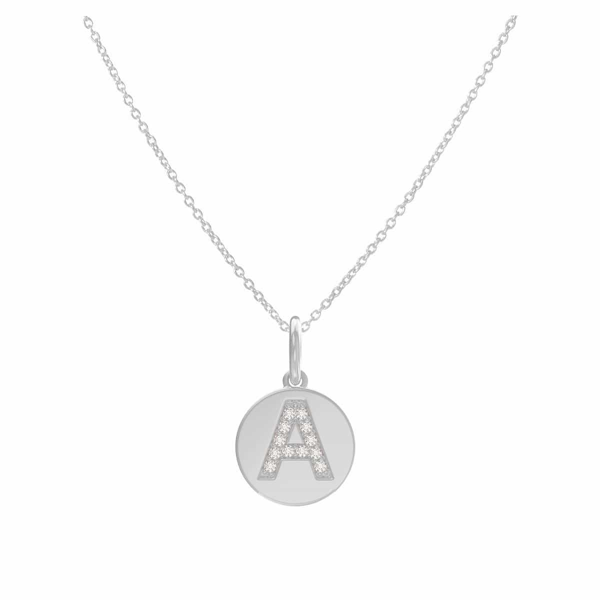 Grand Pave Initial Coin Necklace
