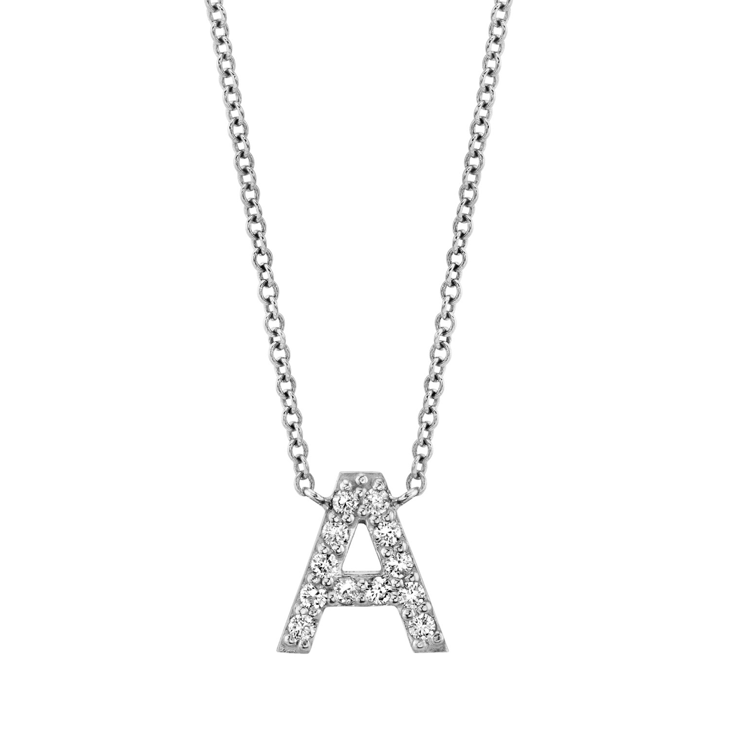 Diamond Pave Letter Necklace