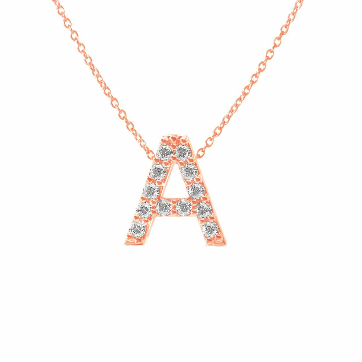 Grand Pave Letter Necklace