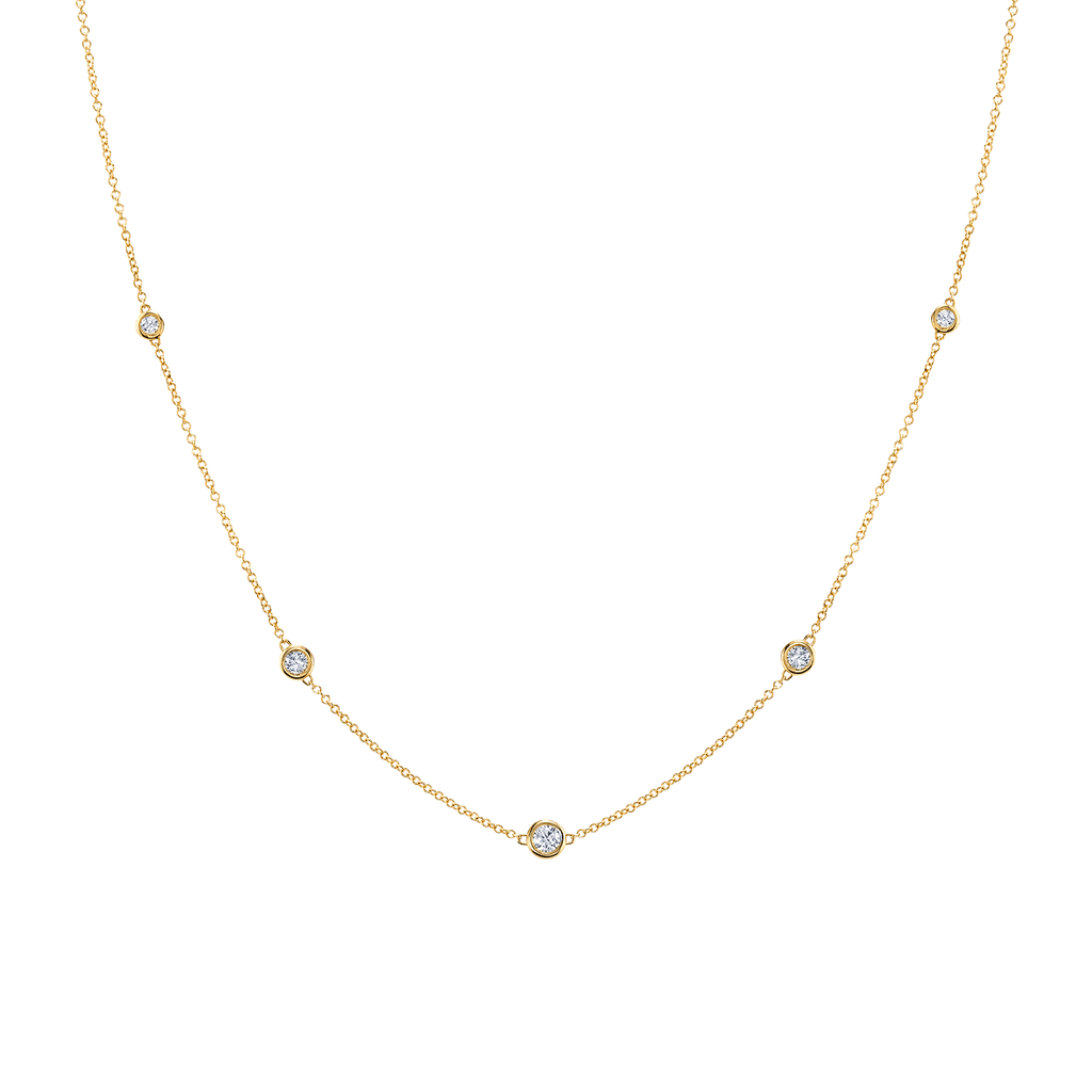 Diamond Bezel Strand Necklace