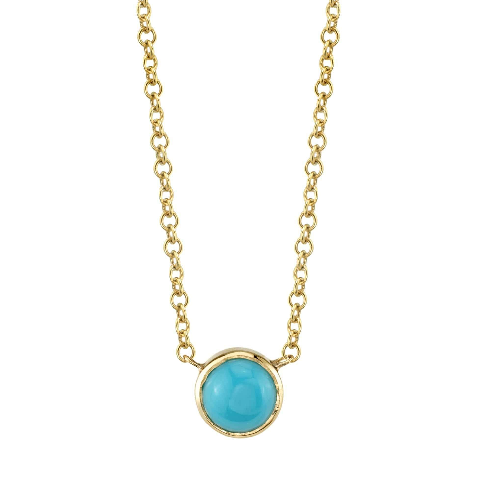 Turquoise Solitaire Necklace