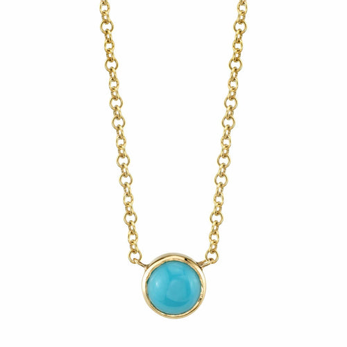 Grand Turquoise Bezel Necklace