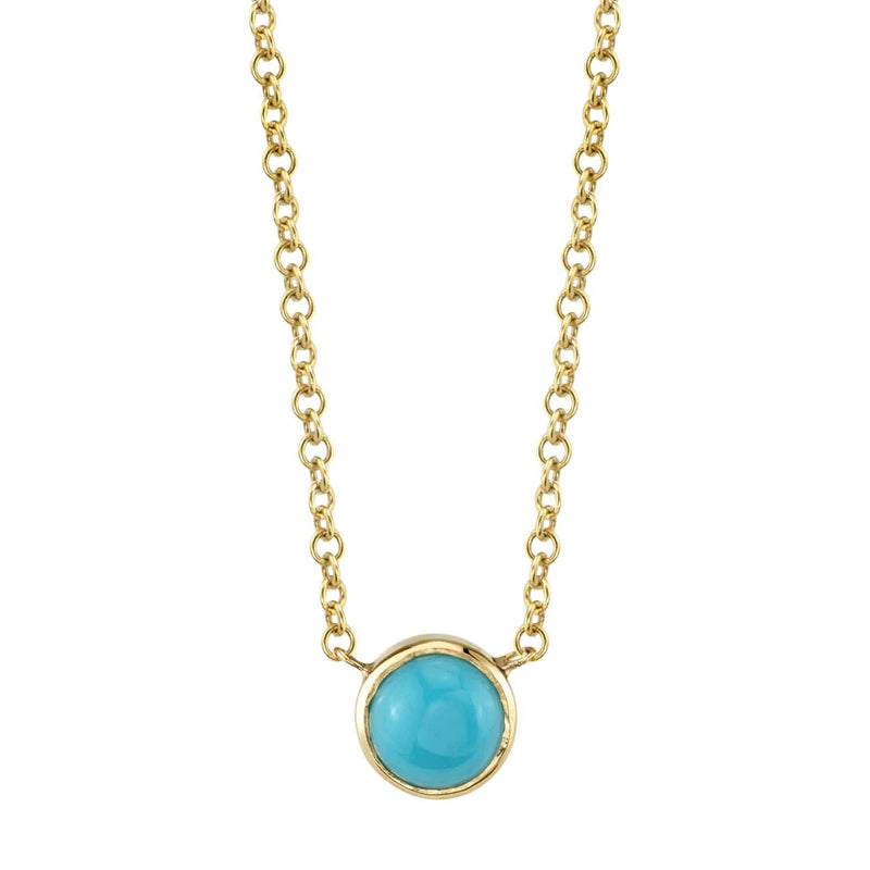 Kids Turquoise Solitaire Necklace