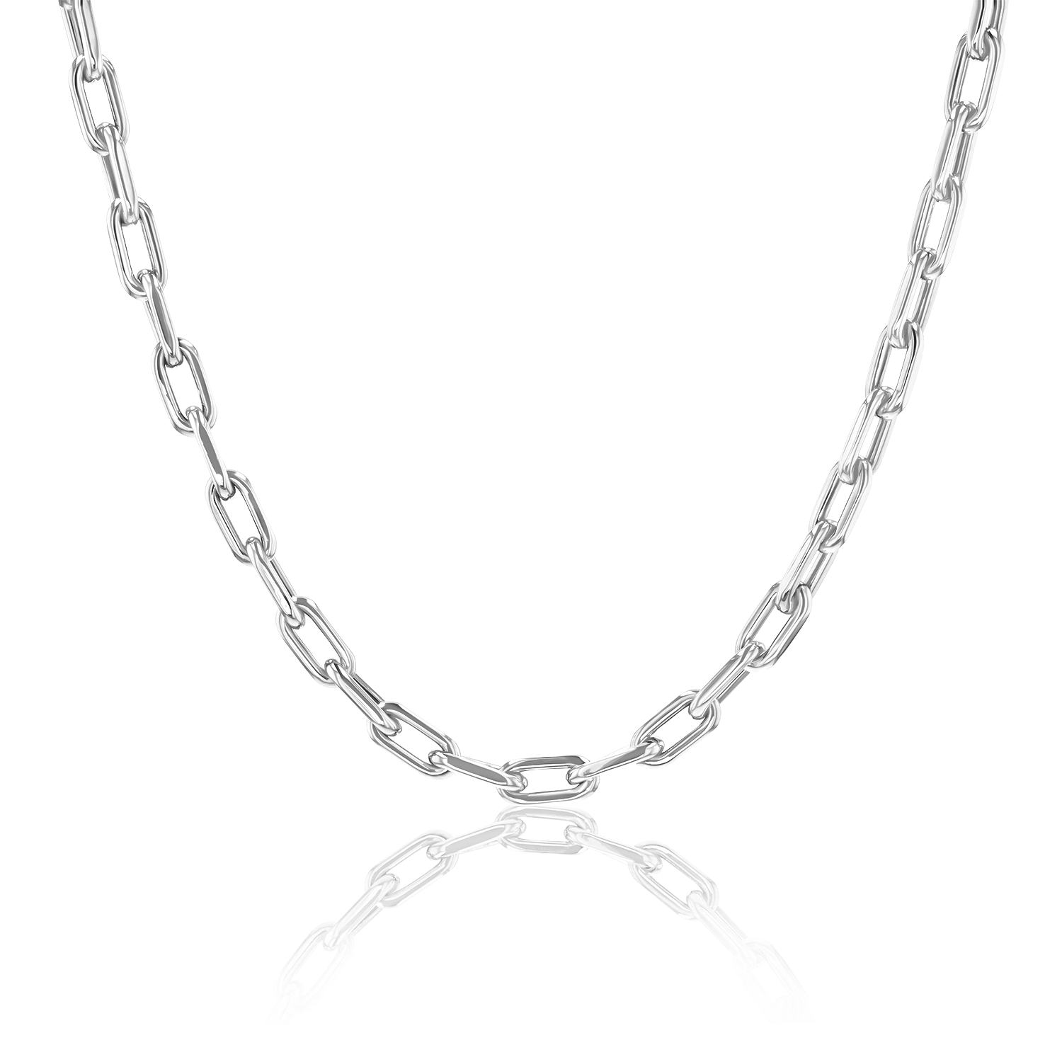 14K Large Exclusive Paper Clip Chain Necklace