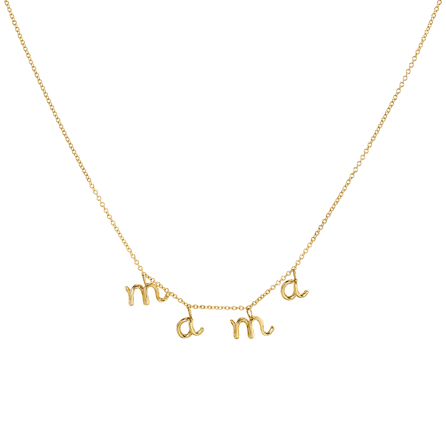 Mini Letter Mama Necklace