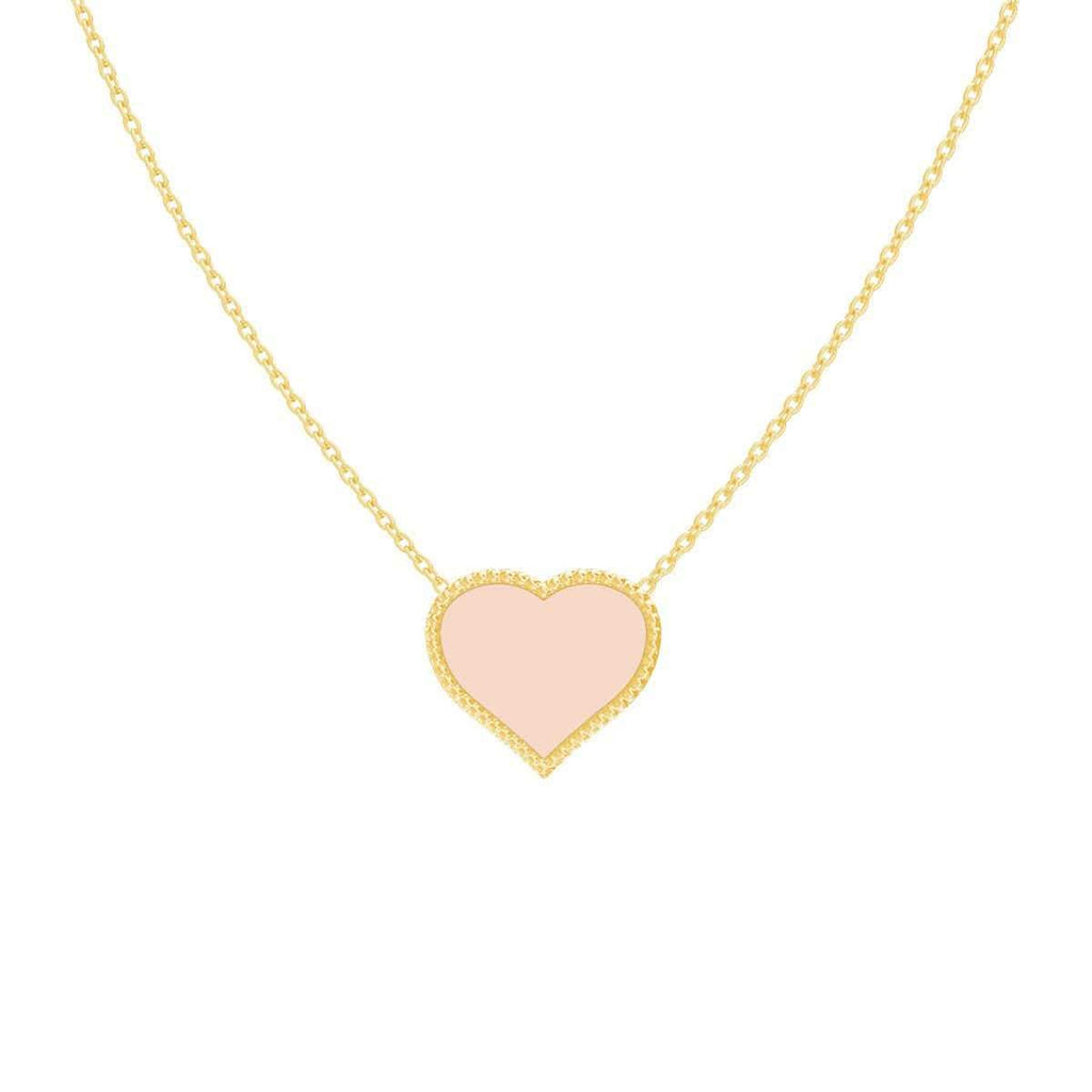 Kids Enamel Heart Necklace
