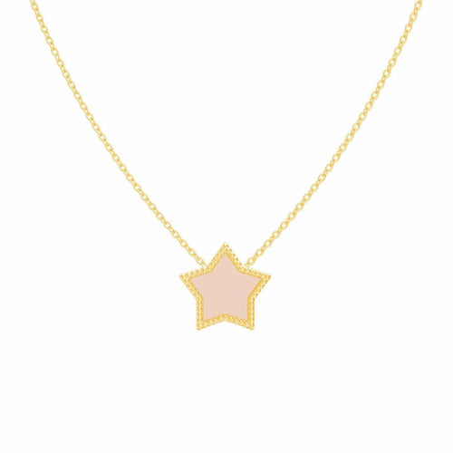 Moyen Enamel Star Necklace