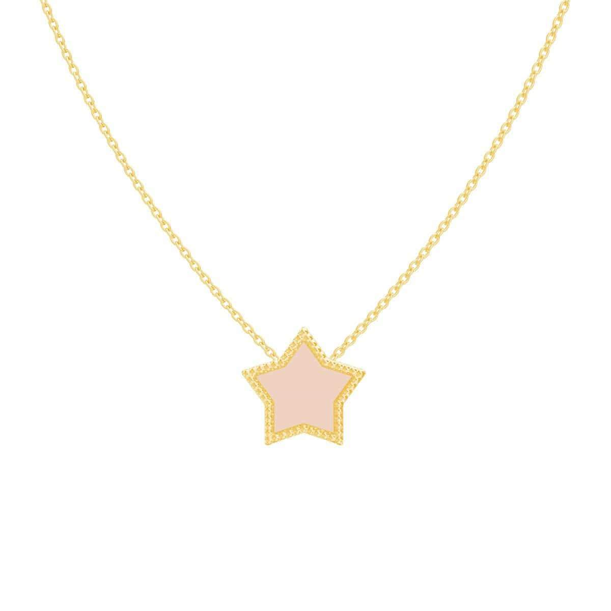 Kids Enamel Star Necklace