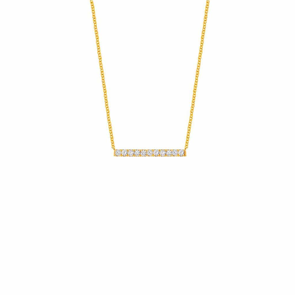 U Pave Moyen Horizontal Short Necklace