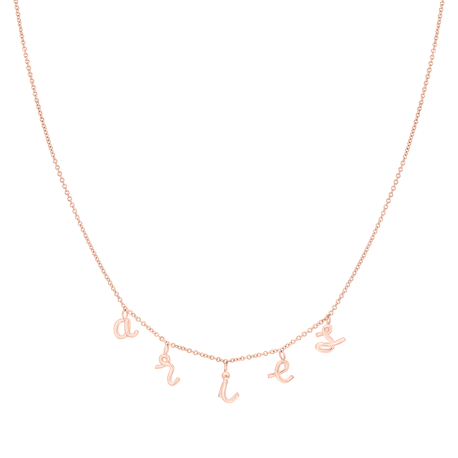Custom Mini Letter Necklace