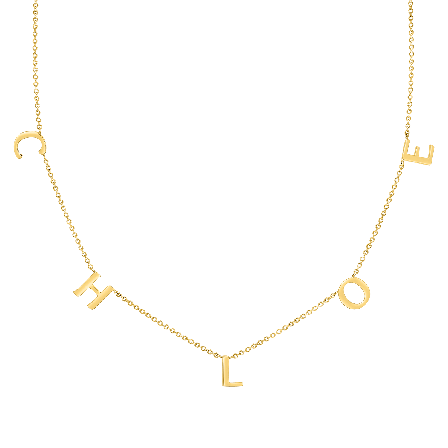 Spaced Letter Necklace