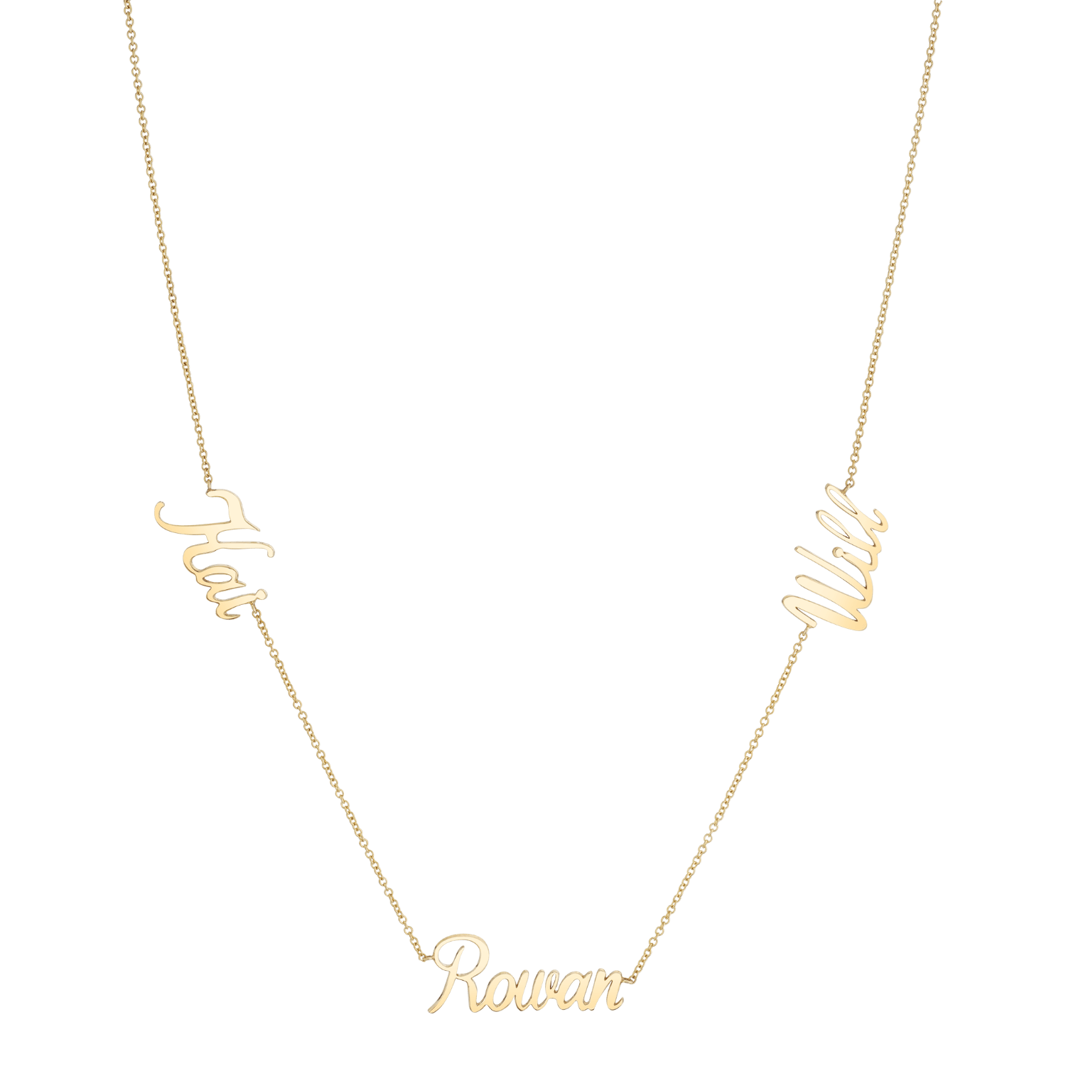 Trois Name Necklace