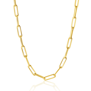 14K Large Paper Clip Chain Necklace