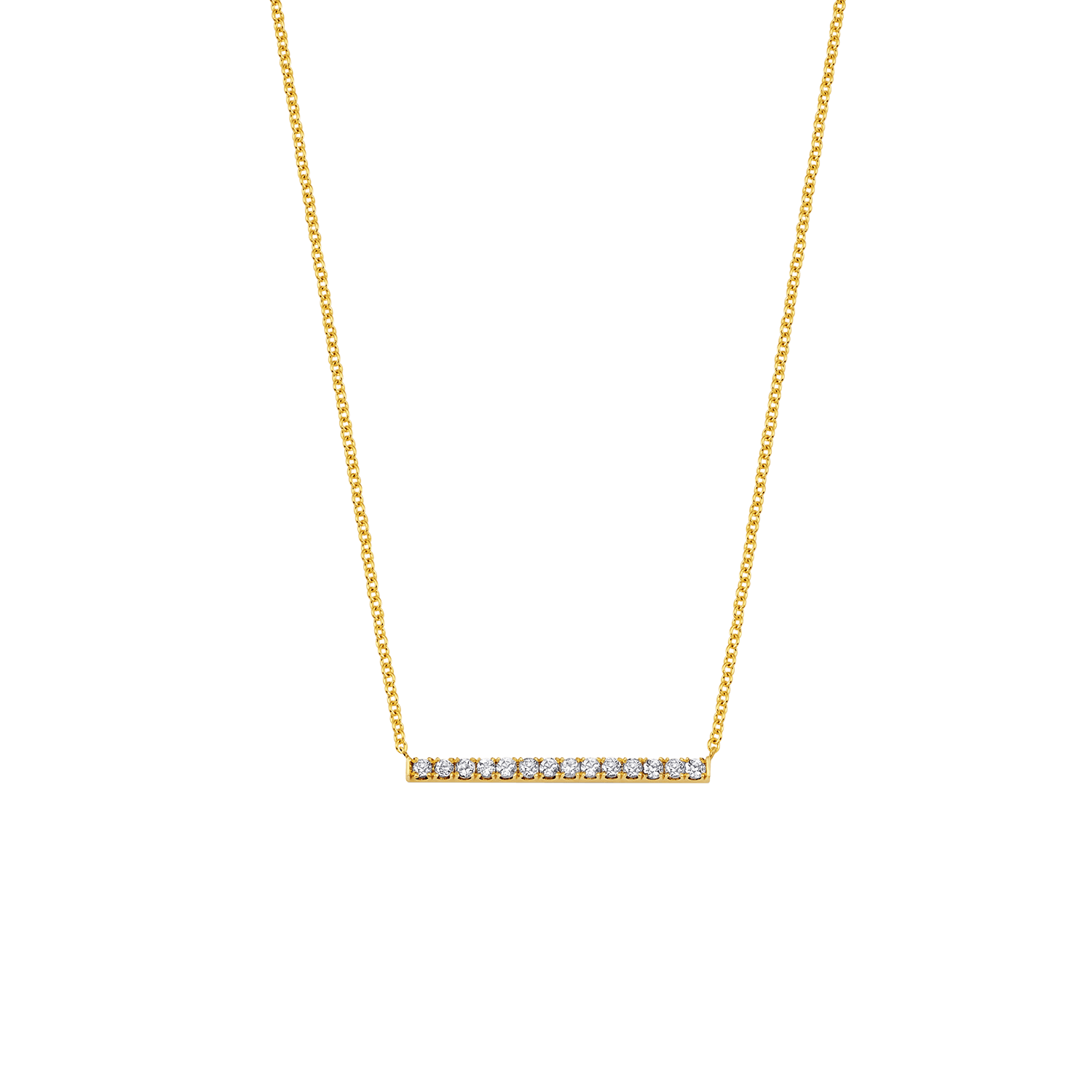 Kids Diamond Pave Bar Necklace