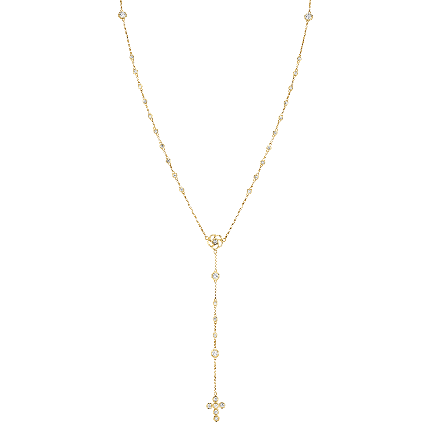 Diamond Rosary Necklace