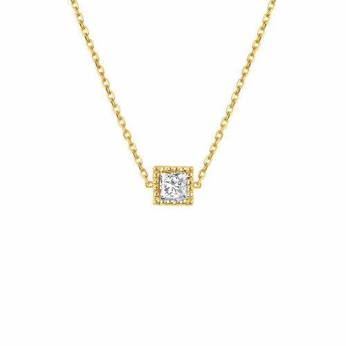 Shapes Princess Bezel Necklace