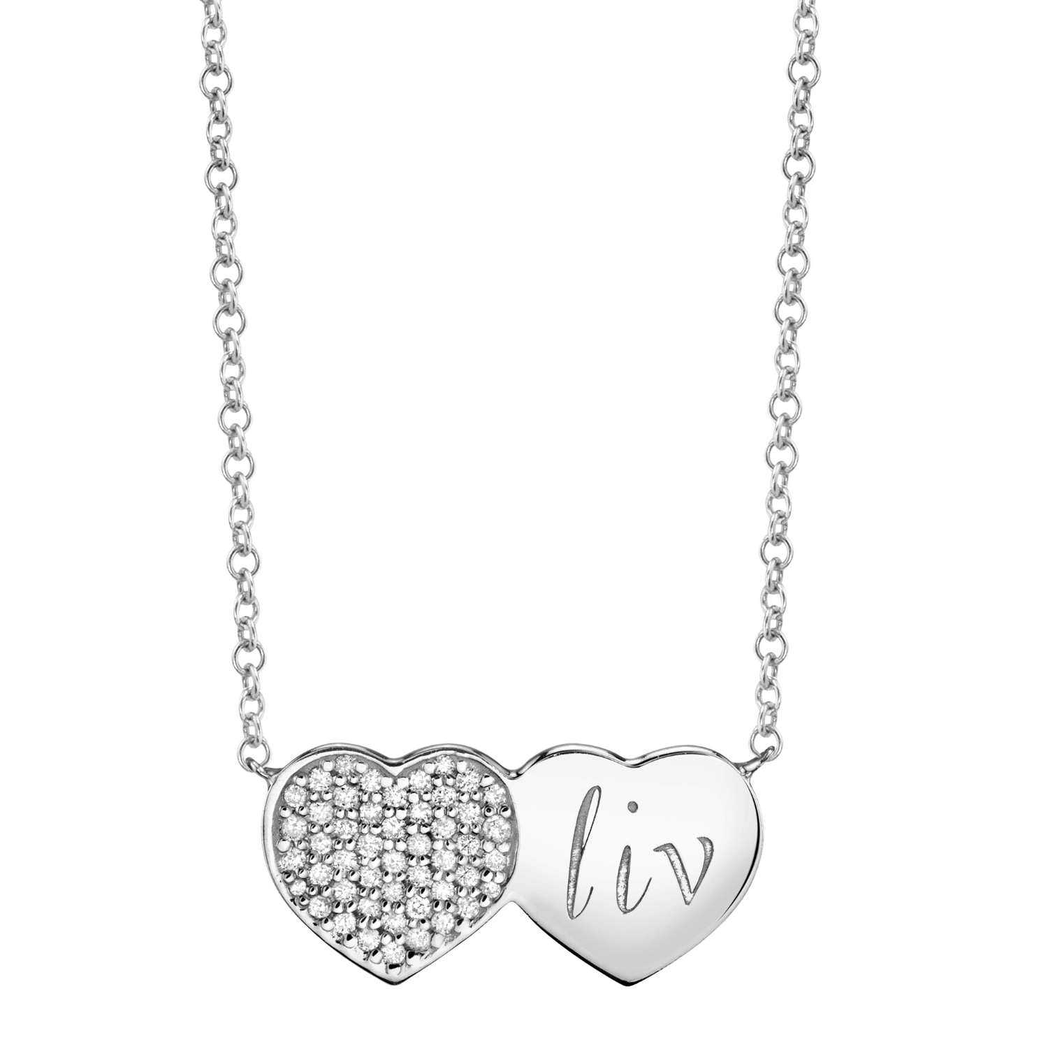 Kids Twin Heart Necklace