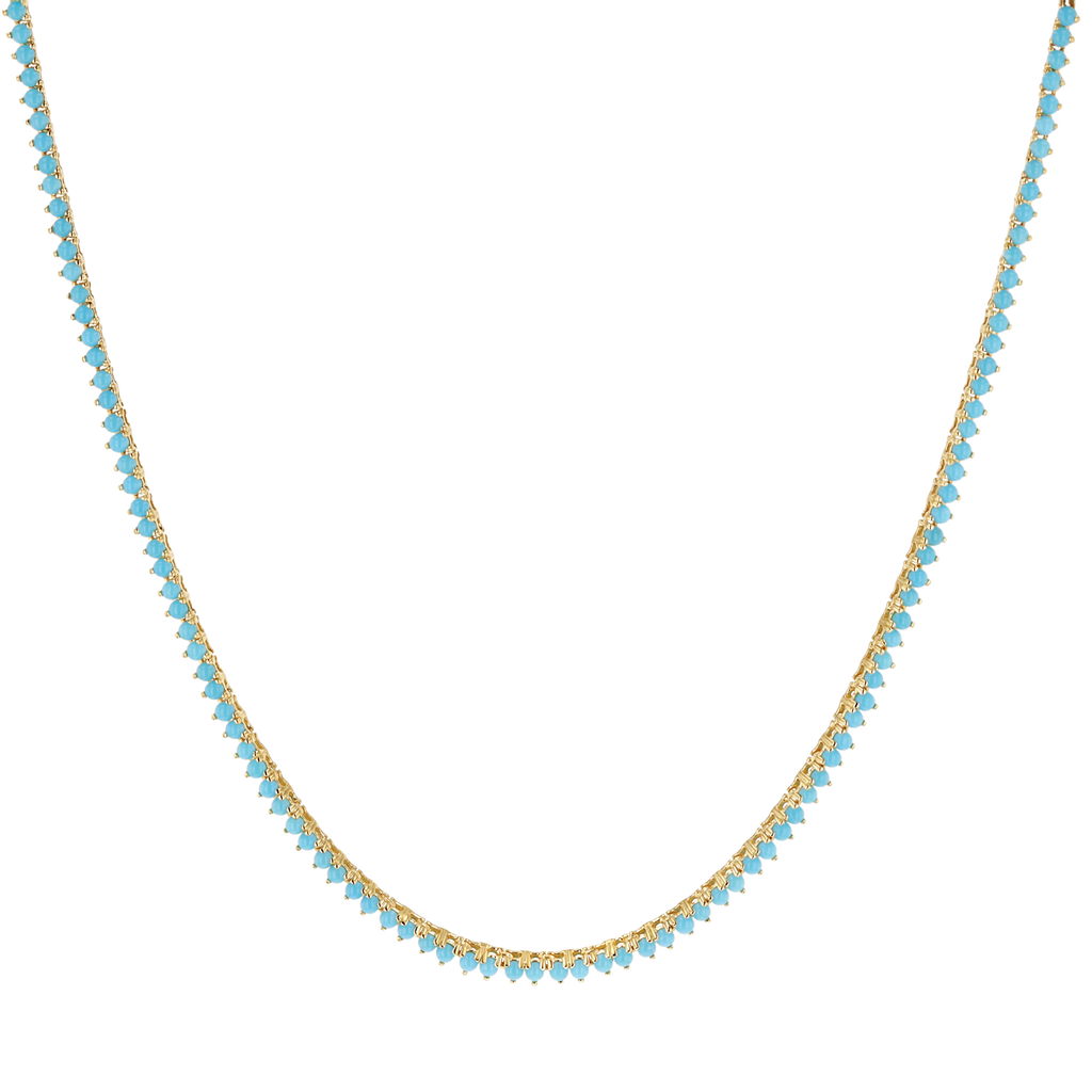 Turquoise Tennis Necklace