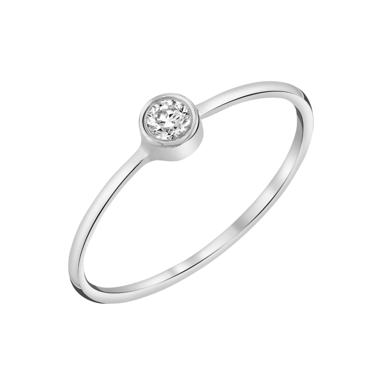 Solitaire Bezel Diamond Ring