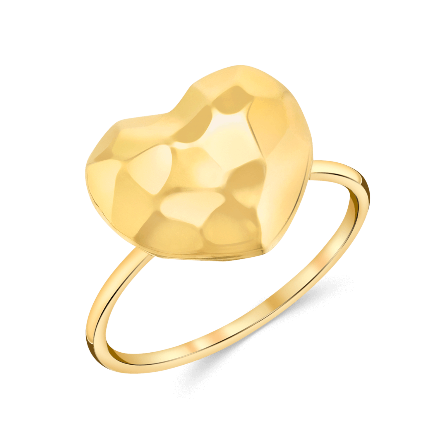 Faceted Heart Ring