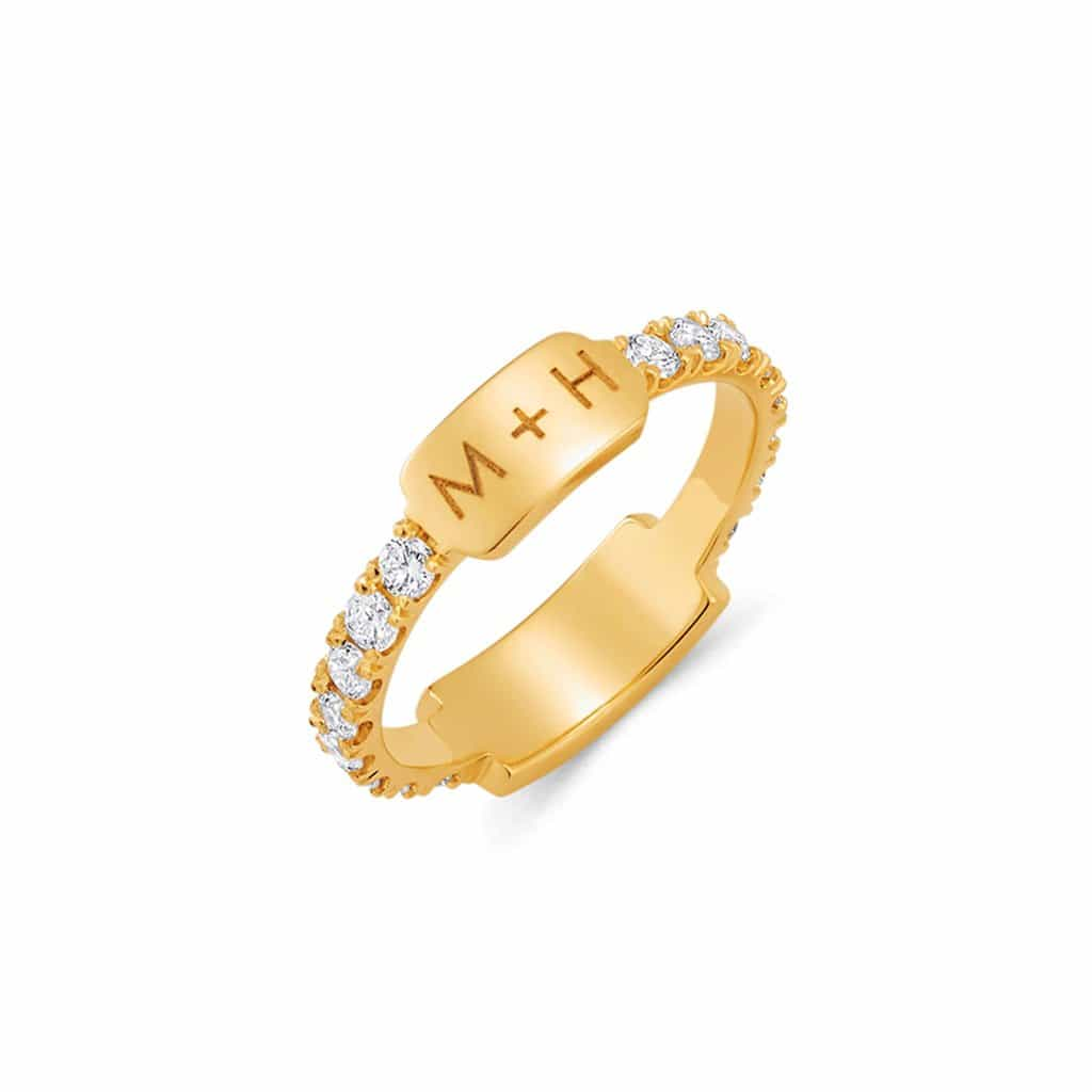 U Pave Grand Bar ID Ring