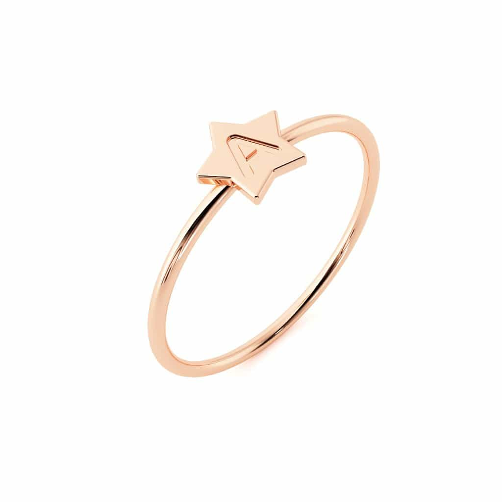 Moyen Initial Star Ring