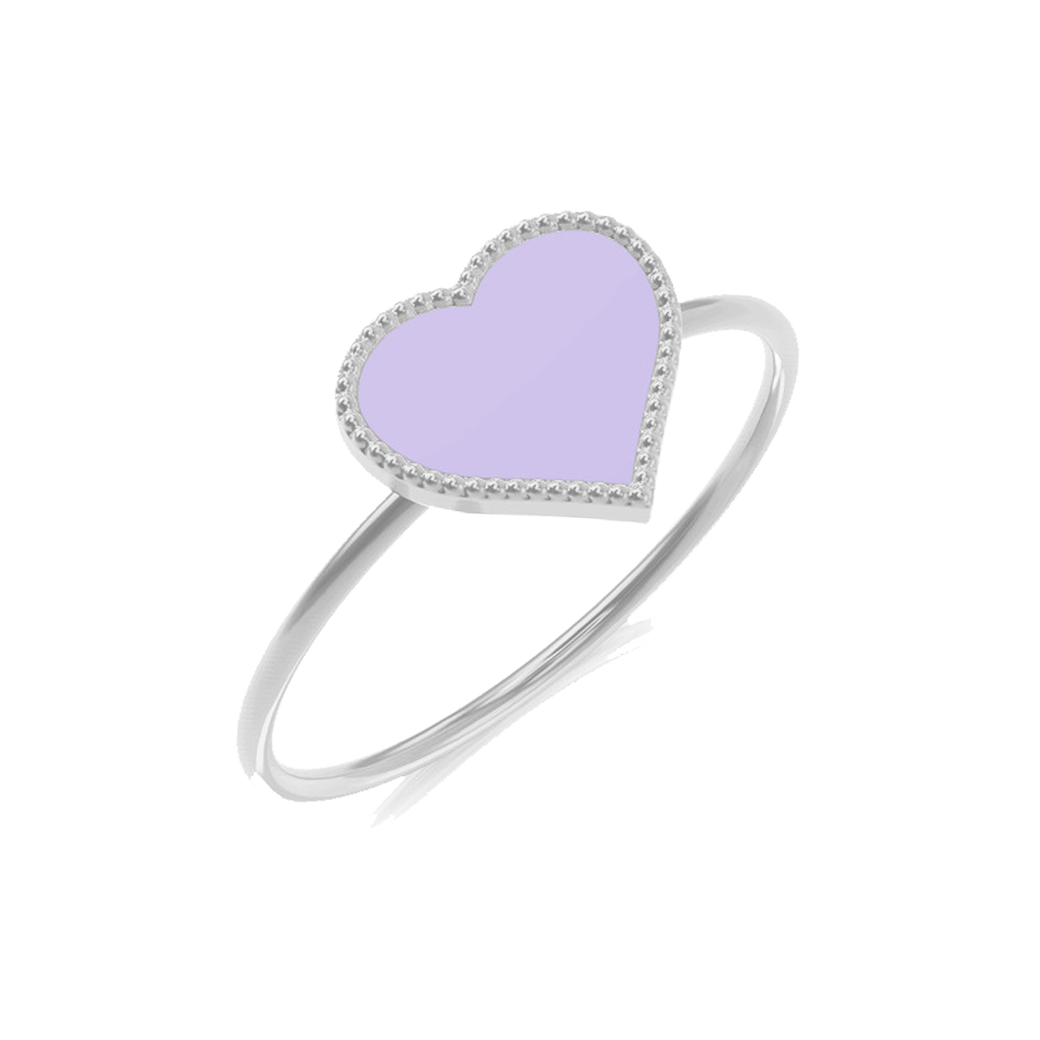 Kids Enamel Heart Ring