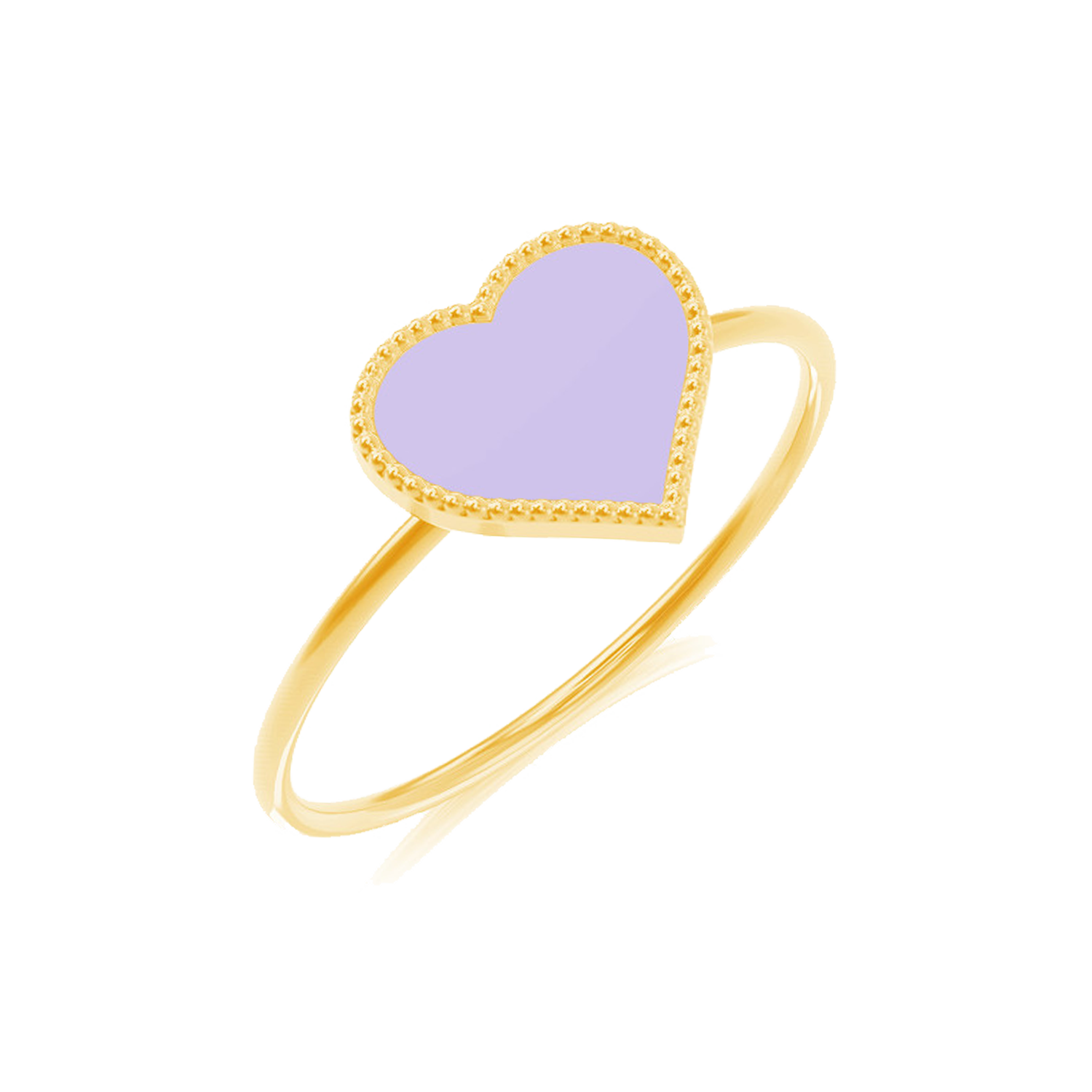 Enamel Heart Ring