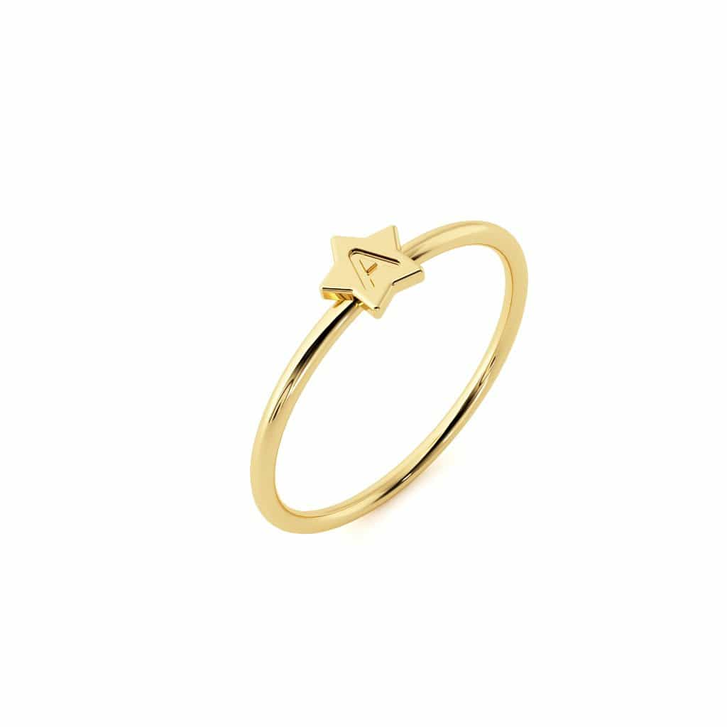 Petit Initial Star Ring