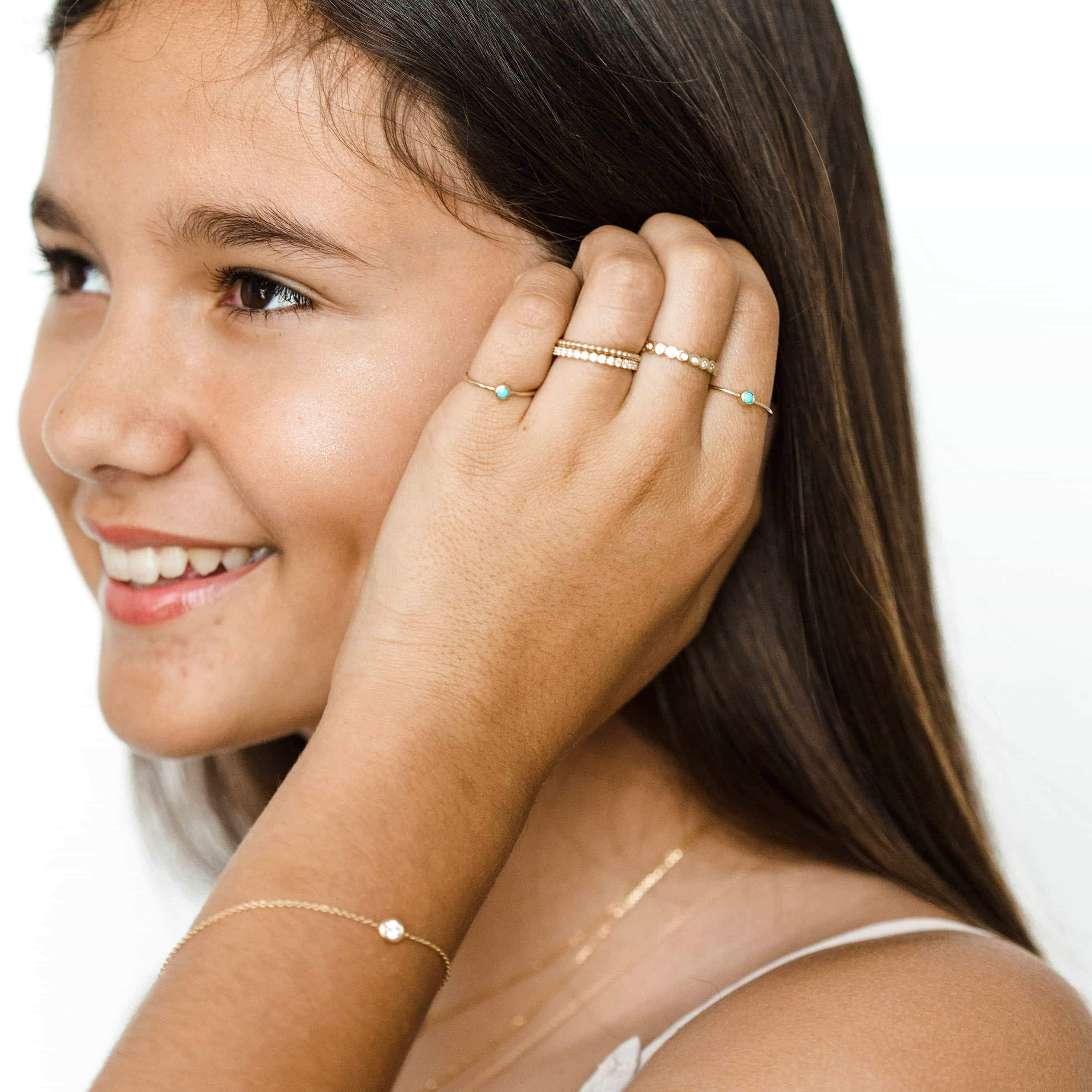 Kids Turquoise Solitaire Ring