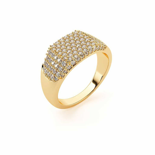 Shapes Rectangle Pave Ring
