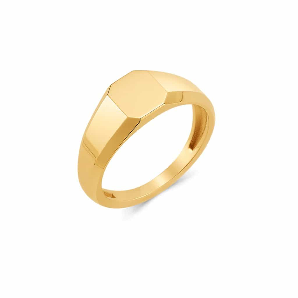 Shapes Octagon Signet Ring