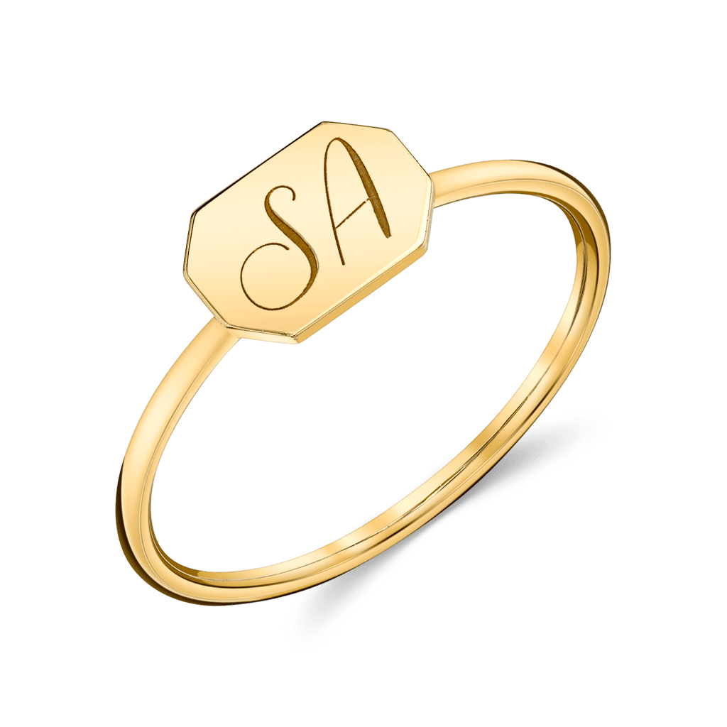 Engravable Initial Tag Ring