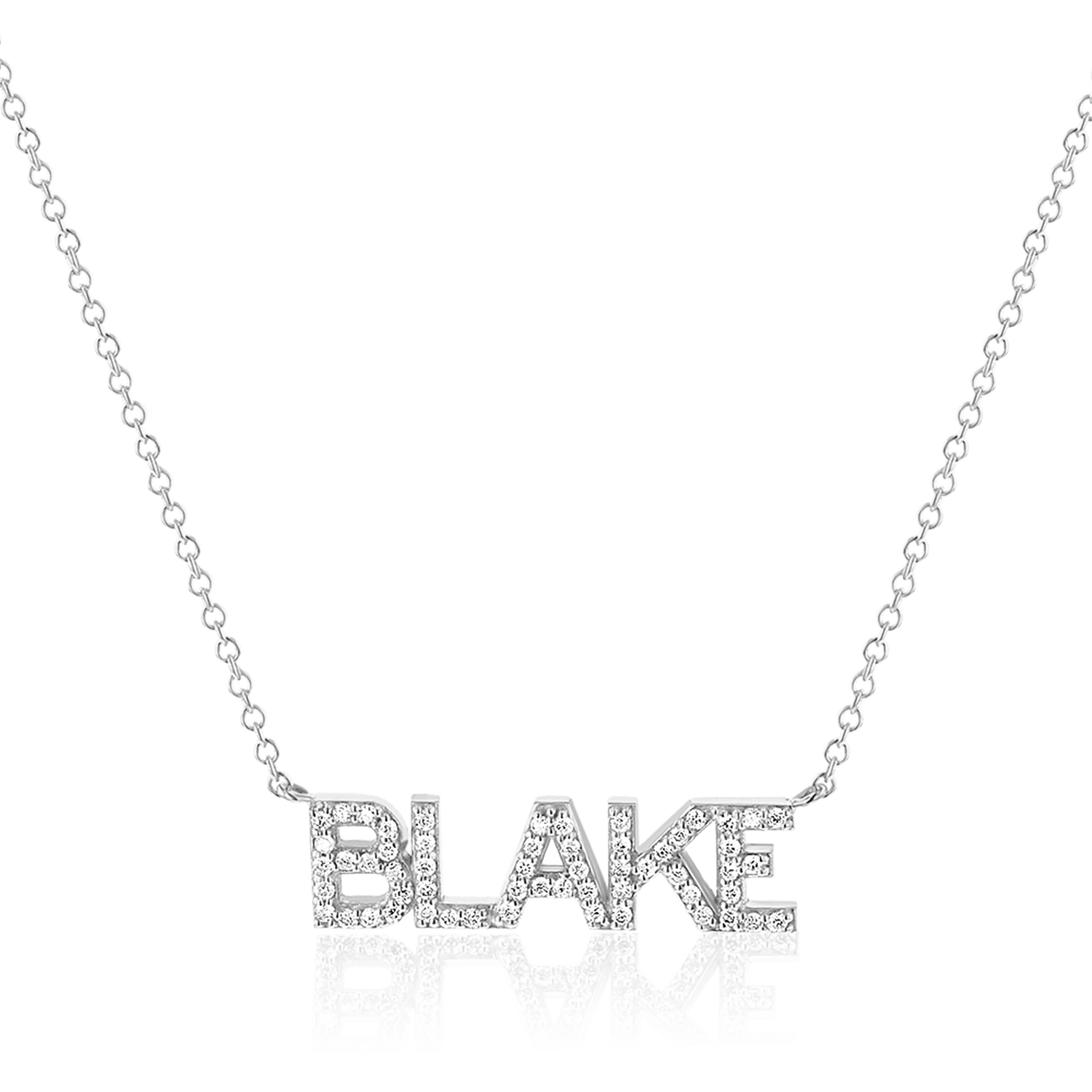 Personalized 14k Real Solid Gold Name Necklace Blake name pendant