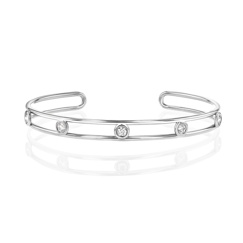 Bubble Diamond Cuff