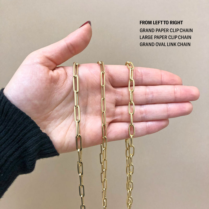 14K Grand Oval Link Chain Necklace