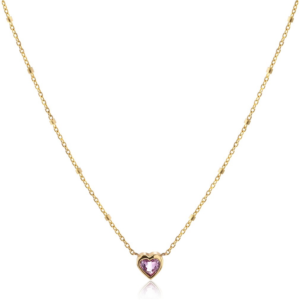 Bezel Heart Necklace