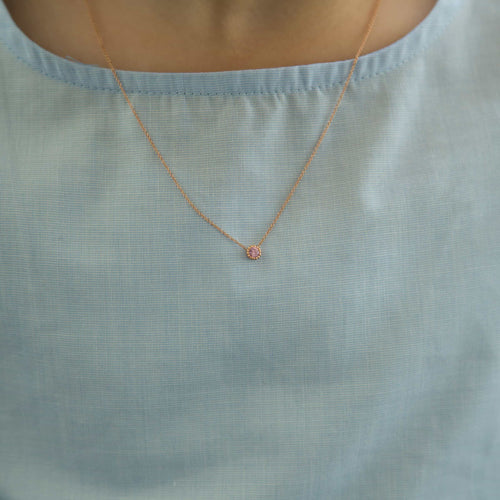 Shapes Round Bezel Necklace