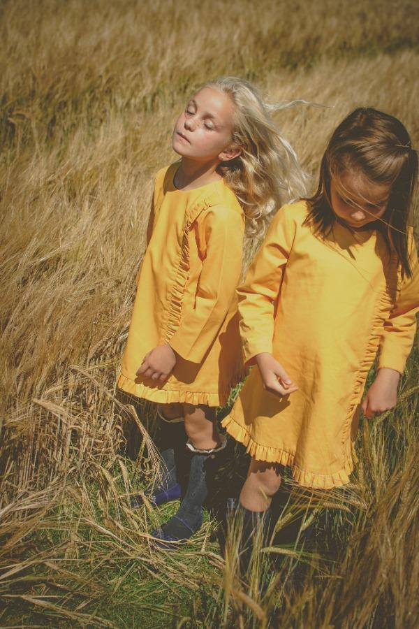 yellow-girls-cotton-dress