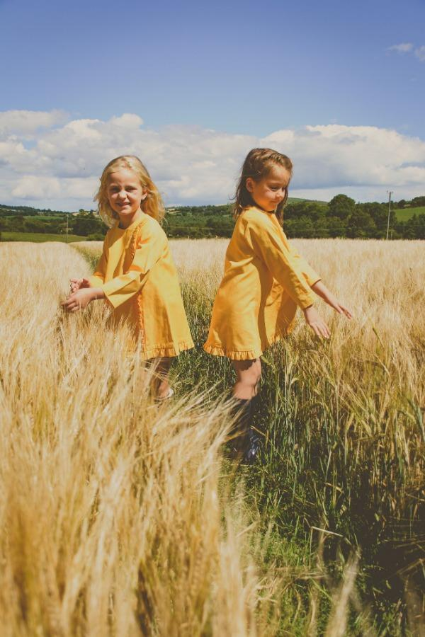 long-sleeved-yellow-girls-dress