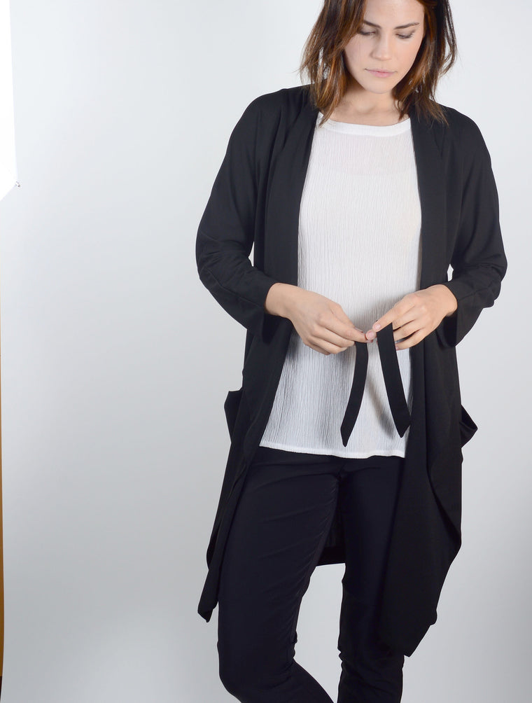 Cardigan Jacket 7083 in Black