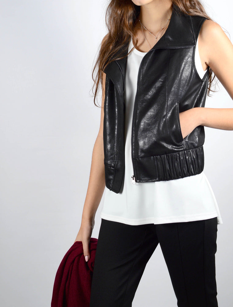 Jacket Vest 7011 in Black
